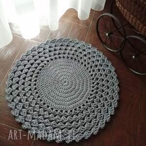 misz masz dorota dywan ze sznurka bawełnianego okrągły szydełkowy 80cm