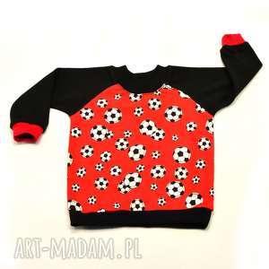 piłki czerwona bluzka dla chłopca, bawełna, rozmiary 68-122, ubrania chłopca
