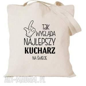 manufaktura koszulek torba z nadrukiem dla kucharza kucharki, prezent najlepsza