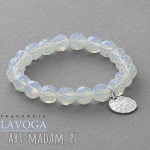 ręczne wykonanie bransoletki crystal with pendant in opal