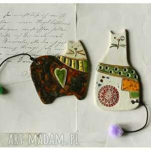 prezent na święta, magnesy koty iii, ceramika, magnes, kot