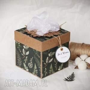 zaproszenie pudełko leśne, leśna kartka, ekopapier, zaproszenie, paprocie