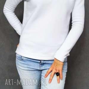 bluza dresowa biała śnieżynka, biała, bluza, ciepla, dresowa