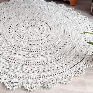 dywan mandala lace 150 cm, mandala, ażurowy, naturalny, sznurek