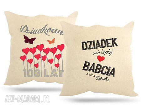 poduszki babcia poduszka dla dziadków z napisem