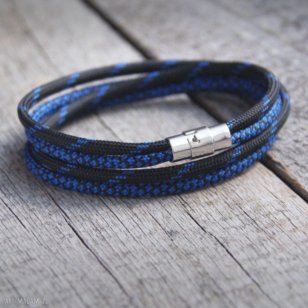 hand made męska męska bransoletka :: hello sailor :: black&blue