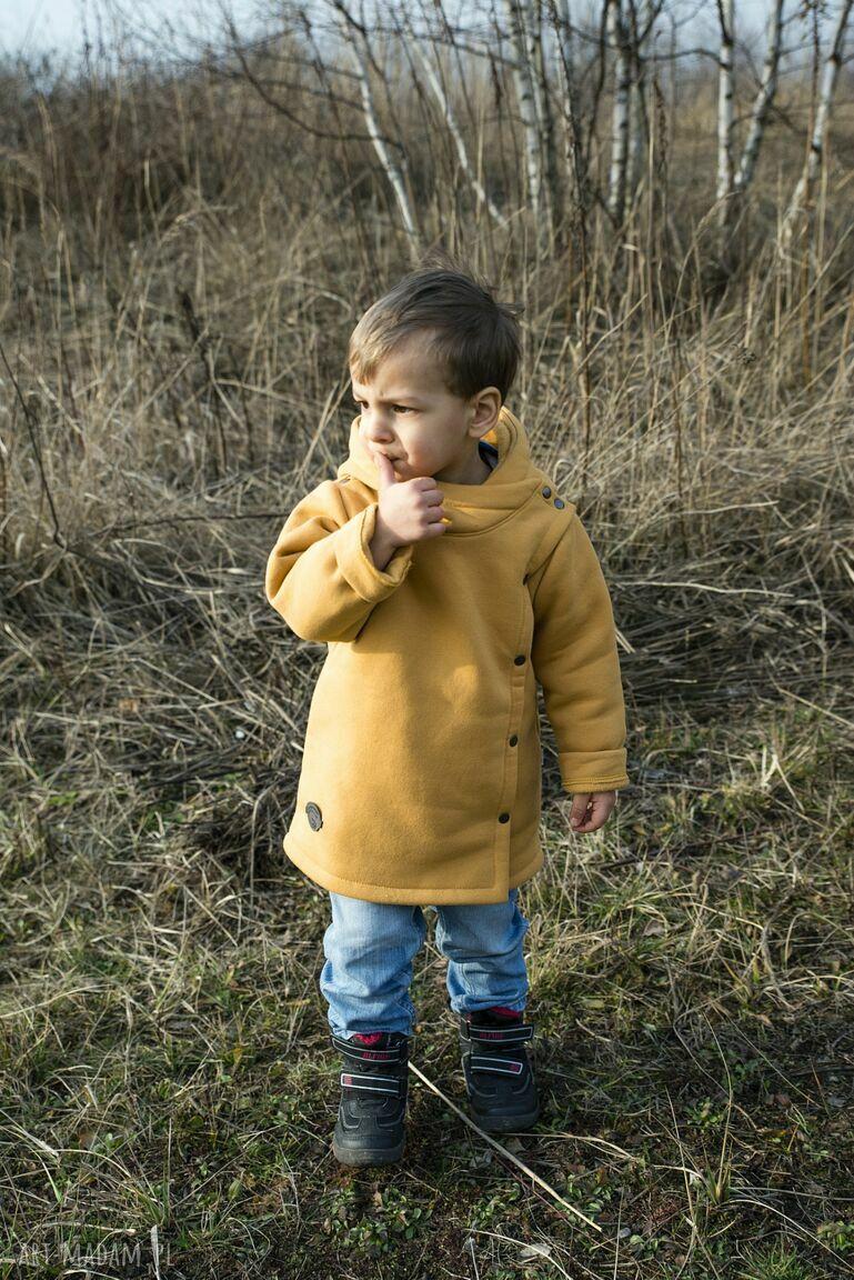 płaszczyk ubranka musztardowy large size