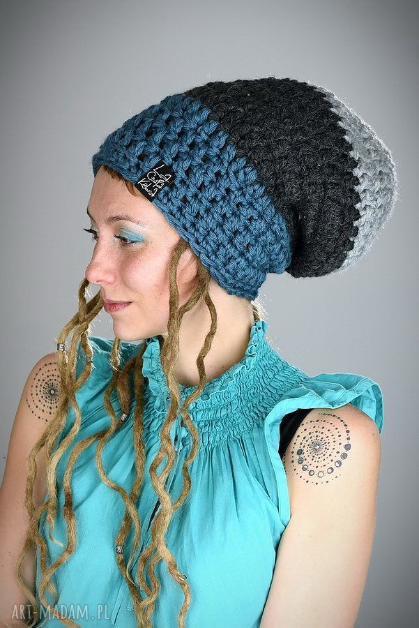 hand-made czapki dreadlove triquence 18