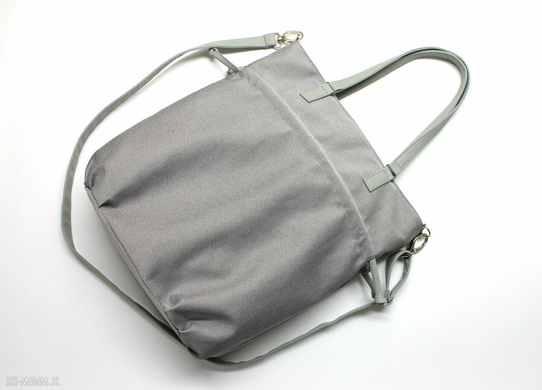 eleganckie na ramię elegancka hobo sack - sakiewka szara