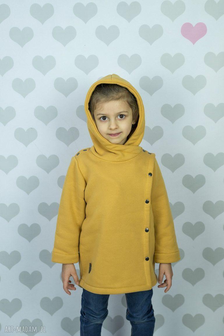 hand-made ubranka płaszczyk musztardowy large size