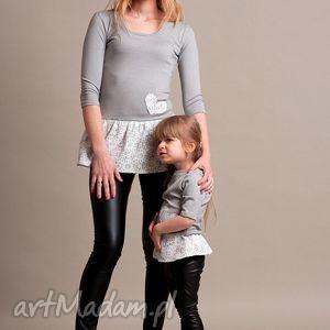 komplet skórkowych legginsów dla mamy i córki , legginsy, skóra, ekoskóra, mamaicórka