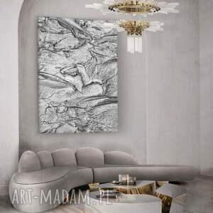 dom silver rock - wielkoformatowy obraz z metalicznym wykończeniem