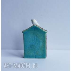 Domek zimowy większy, ceramika, domek, ptak
