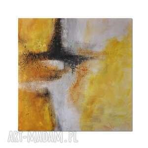 spilled lemonade, abstrakcja, nowoczesny obraz ręcznie malowany