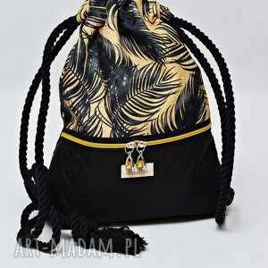 handmade workoplecak wodoodporny, worek plecak, torba na plecy, ze sznurami, plecak