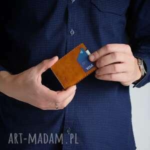handmade portfele minimalistyczny portfel skórzany męski
