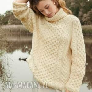 swetry sweter charlotte, sweter, gruby, ciepły, zimowy, dziergany, prezent