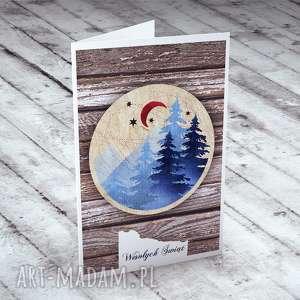 upominki święta ŚWIĄTECZNY PEJZAŻ! - KARTECZKA, bożonarodzeniowe, kartki, życzenia