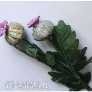 świąteczne prezenty, czosneczki, ceramika, kwiat, czosnek dom
