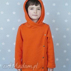 płaszczyk pomarańczowy - large size - płaszcz, płaszczyk