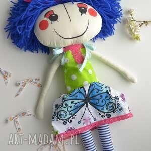 ręcznie szyta lalka anolinka - prezent dla czterolatki, lalka na urodziny