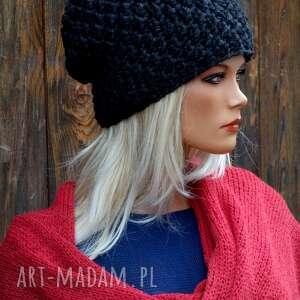 czapka handmade nr 23, zimowa, wełniana czapka, ciepła