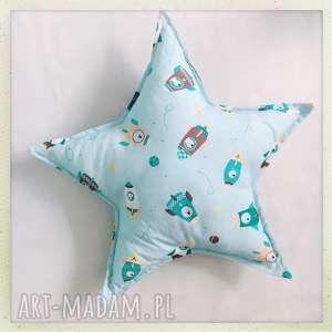 pokoik dziecka poduszka gwiazda rakieta, star, mięta, kosmos