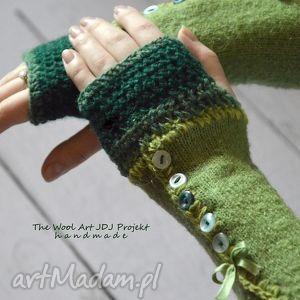 rękawiczki mitenki, rękawiczki, zielone, prezent