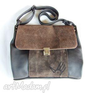 TORBA WŁÓCZYKIJA A4, skóra, postarzana, zamszowa, wygodna, casual, leather