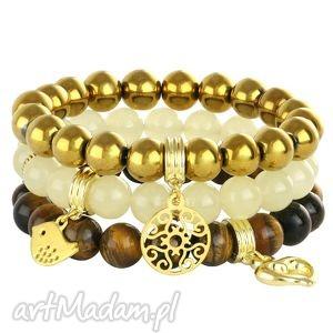 golden eye - ,jadeit,hematyt,zawieszka,złoty,tygrysie,