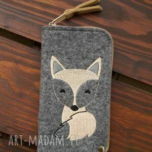 etui filcowe na telefon - lisek, smartfon, pokrowiec, futerał, prezent, fox