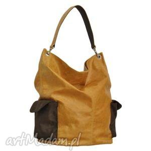 0a4c56301f13c 17-0006 miodowa torba damska worek / torebka na studia stork, markowe, modne