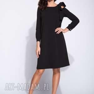 sukienki elegancka sukienka pudełkowa z kokardą na ramieniu