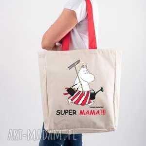 Prezent Licencjonowana torba Muminki XXL z czerwonym uchem dla Mamy Super mama