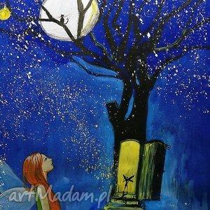 Akryl na płótnie WRACAJ DO DOMU obraz 70x50cm artystki plastyka Adriany Laube, elf