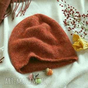 hand made czapki rudy pomarańcz