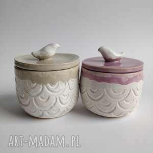 kate maciukajc zestaw składający się z dwóch pojemników, ceramika użytkowa