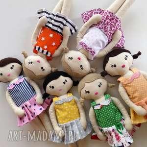 handmade lalki mała lala - czarne włosy