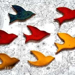 wyjątkowy prezent, 7 x ptaki ceramika, ptaki, ptak, ceramiczny, niebo