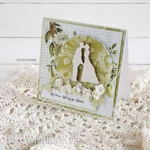 ręcznie wykonane scrapbooking kartki kartka ślubna, 530