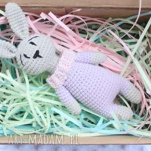królicze grzechotka - grzechotka, bawełna, szydełko