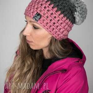 czapka triquence 28 - brudny różowy, czapa, snowboard, snowboardowa, zimowa