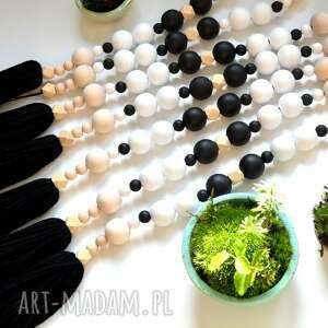 handmade dekoracje girlanda z frędzlem