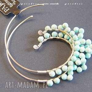 Srebri kolczyki peruwiańskie opale anetta zimnicka koła,
