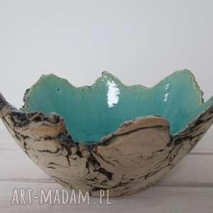 ręczne wykonanie ceramika sardynia artystyczna miska rozmiar m