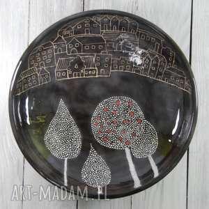 Prezent Misa sgraffito Miasto, prezent, na-owoce, na-cukierki, misa-ceramiczna
