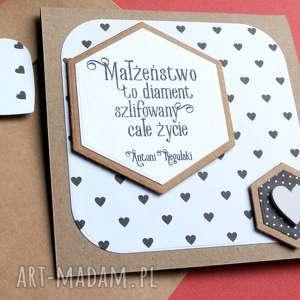 kartka ślubna :: małżeństwo to diament b lub