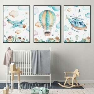 Zestaw 3 plakatów dziecięcych #1 b2 50x70 cm pokoik dziecka