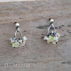 prezent na święta, etiopski opal welo kolczyki, srebro, opal, etiopski, welo, drobne