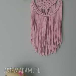 różowa makrama, sznurek, dziewczynki